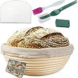 Banneton Banneton Panier rond en rotin pour pain et pâte 750 g + doublure + grattoir blanc gratuit
