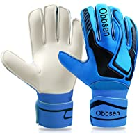 Goalkeeper Gloves for Kids, Youth and Adult | Football Gloves with Fingersaves | Goalie Gloves Double Layer Wristband…