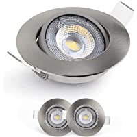 Emos Exclusive Spot LED Encastrable 4000K - Lampe Plafond Orientable 50° pour ampoules LED 3 Spots LEDs Ronds 5 W/450…