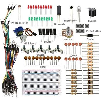 Breadboard Resistor Kit Starter Kit For Ar-duino With Resistor /led Jumper Wires Capacitor