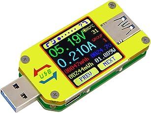 Innovateking-EU Multimetro USB 3.0 UM34 Amperometro voltmetro USB Corrente di tensione USB Temperatura del caricabatteria Digital Meter Tester Resistenza del cavo Display LCD a colori Tester di carico USB