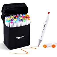 Stylo Marqueur, Ohuhu 40 Couleurs Double Pointe Art Croquis Stylos Marqueurs Fine Large Double Pointe Graphic