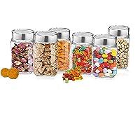 Treo by Milton Cube Storage Glass Jar, Set of 6, 310 ml