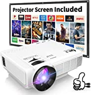 DR. J Professional HI-04 1080P Supported 3500lumens 4Inch Mini Projector with 170