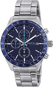Breil Orologio Uomo Fast quadrante Mono-Colore Blu Movimento Chrono Quarzo e Bracciale Acciaio Argento EW0463
