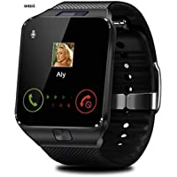 snowpack DZ09 Bluetooth Smart Watch with Touch Screen/Compatible with All 3G, 4G Phone Camera and Sim Card Support - Black and Gold