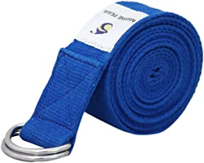 Marine Pearl Super Soft 8 Ft Organic Cotton Yoga Strap - Perfect For Stretching, Holding Poses Etc