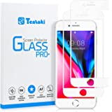 Tentoki iPhone 7/8 Screen Protector, [2 Pack] HD Full Coverage Tempered Glass Screen Protector, Anti-Scratch, Edge to Edge Pr