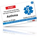 Asthma I.C.E. Card - FULLY PRINTED - NO PEN REQUIRED