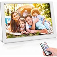 Digitaler Bilderrahmen 10 Zoll Hochauflösend (1024x 600) Video/Foto/Musik-Player, Digitaluhr, Kalender, Wecker…