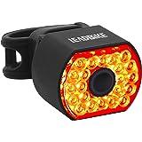 Leadbike LD09 - Fanale posteriore per bicicletta, USB, ricaricabile, a LED, sensore di frenata automatico, 6 modalità di illu