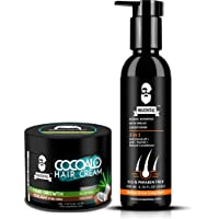 Muuchstac Cocoalo Hair Cream with Actual Aloevera for Hair Growth and Hair Styling and Herbal Shampoo with Inbuilt…