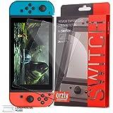 Orzly Glass Screenprotectors compatibel met Nintendo Switch - Premium Screenprotector van gehard glas TWIN PACK [2x Screenpro