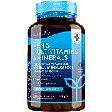Multivitaminas y Minerales veganas para Hombre - 25 vitaminas y minerales esenciales que incluyen todas las Vitaminas C, biot
