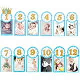 Party Propz 1-12 Month Photo Banner for Decoration (Blue)