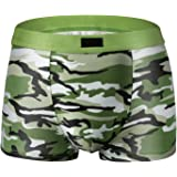 qilaizhongda Men's Camouflage Military Underpants Underwear Stretch U Bulge Pouch Boxer Briefs