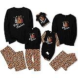 Alifewill Navidad Familia Conjunto de Pijamas, Conjunto de Navidad cálido para padres e hijos Conjunto de pijamas de dos piez