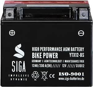 Siga Motorradbatterie 12ah 12v 200a En Agm Batterie Ytx12 Bs Etx 12 Bs Ctx12 Bs Ytx12bs Ytx12 4 Auto