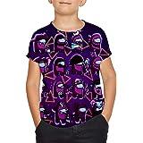 Among Us - Camiseta de manga corta para niños y niñas con impresión 3D