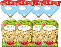 Lindt Sachet Mini Lapins or Lait 120 g - Lot de 4