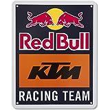 Red Bull KTM Racing Team Letrero de Metal, Azul Unisexo Talla única Letrero de Metal, Red Bull KTM Factory Racing Original Ro