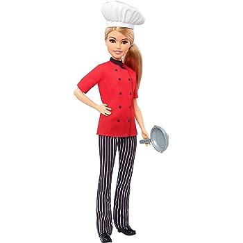 Barbie Carriere Chef con Padella 02bba776303a