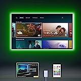 MYPLUS LED-Leuchten für TV, LED-TV-Hintergrundbeleuchtung für 152,4–177,8 cm Fernseher mit Fernbedienung, 13 Farben, 6 Szenen