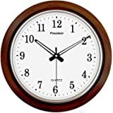 LYONIC President Quartz Official Designer Big Size Wall Clock for Home,Hall,Office(42X42 cms Color-Dark Wood) Made in India
