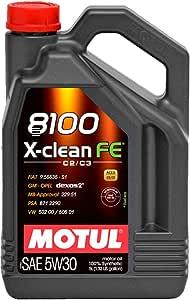 Motul Non Applicable Engine Oils 8100 X Clean Fe 5w30 C2 C3 5 L Auto