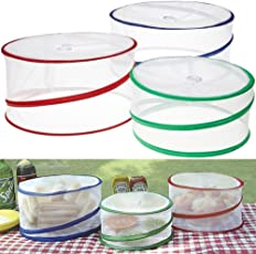 LWVAX Food Covers for Outdoors and Indoor Pop-up Reusable Food Covers Net Cookware Accessories
