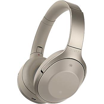 Sony MDR-1000X kabelloser High-Resolution Kopfhörer (Noise Cancelling, Sense Engine, NFC, Bluetooth, bis zu 20 Stunden Akkulaufzeit) champagner