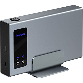 Inateck Aluminum USB-C RAID HDD Enclosure Dual Bay with a Portable Stand for 2 x 2.5 SATA SSD/HDD Hard Drive Enclosure - USB 3.1 Gen 2 Type C Port with 10 Gbps Superspeed (FE2101)