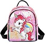 Sipobuy Lucido Sveglio Bello Paillette Unicorno Mini Zaino Per Le Ragazze I Bambini, Chiusura A Cerniera, Frontale E Tasche L
