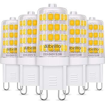 Albrillo 5er Pack 3.5W G9 LED Lampe 400 Lumen, 3000k warmweiß ...