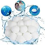 KATELUO Balles Filtrantes, 700g Boules de Filtre de Piscine, Billes Filtrantes, Alternative pour 25 kg de Sable Filtrant, Méd