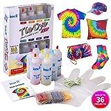 imoli Tie Dye Kit - 8 Lebendige Farben Textilfarben, Permanente One-Step Tie Dye Art Set für Kinder, Erwachsene, Mode DIY(Enthält 8 Farbstoff Flaschen und 8 Farbstoff Pakete)