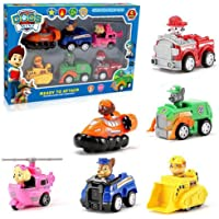 Simplifiers Paw Patrol Dogs Racer Pups Figure Set of 6 Piece with Vehicles