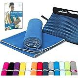 Mikrofaser Handtuch Set - Microfaser Handtücher für Sauna, Fitness, Sport I Strandtuch, Sporthandtuch I 1x XS(50x30cm) I Blau