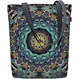 Arso Shopper Sunny Barcelona Stofftasche Damen Tasche mit Motiv Mosaik-Blume Stoff Kodura Einkaufstasche wasserdicht