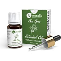 Naturalis Essence of Nature Tea Tree Essential Oil, for Acne, Pimples, Scars, Skin, Face, Hair care & Anti-Dandruff…
