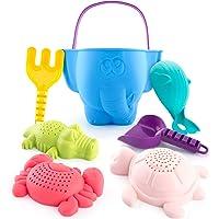 CubicFun kit de Jouets de Plage Enfant, Jouet de Sable avec Seau Plage, Turtle Crocodile Baleine Crabe Moules Jouets de…