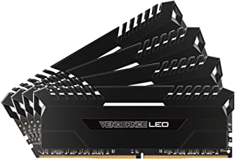Corsair CMU64GX4M4D3000C16 Vengeance LED 64GB (4x16GB) DDR4 3000MHz C16 Desktop Memory - White