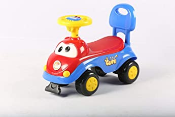 GoodLuck Baybee Ride on Push Car with Music for Baby Boys and Baby Girls (1-2 Years, Red)