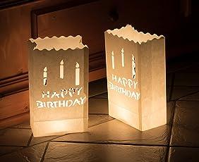 10 x Lichttüten feuerfeste Papiertüten für Teelichter Kerzen