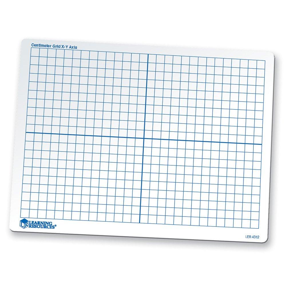 ressources d'apprentissage 22,9x 30,5cm double face effaçable à sec coordonnées Grille Tableau