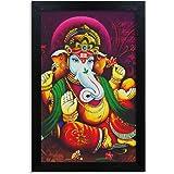 Home Attire HAP-1114 Lord Ganesha Painting, 12x18 inch
