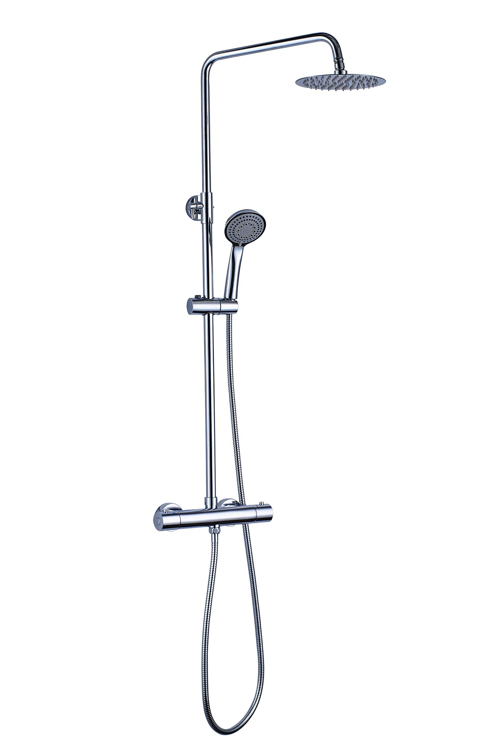 OXEN 120724 – Columna de ducha redonda con termostática (largo normal)