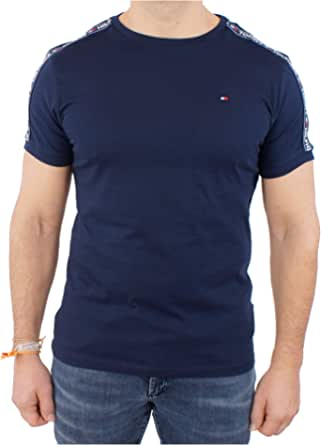 Tommy Hilfiger Men's Rn Tee Ss T-shirt, Blue (Navy Blazer 416), Large (Manufacturer Size: LG)