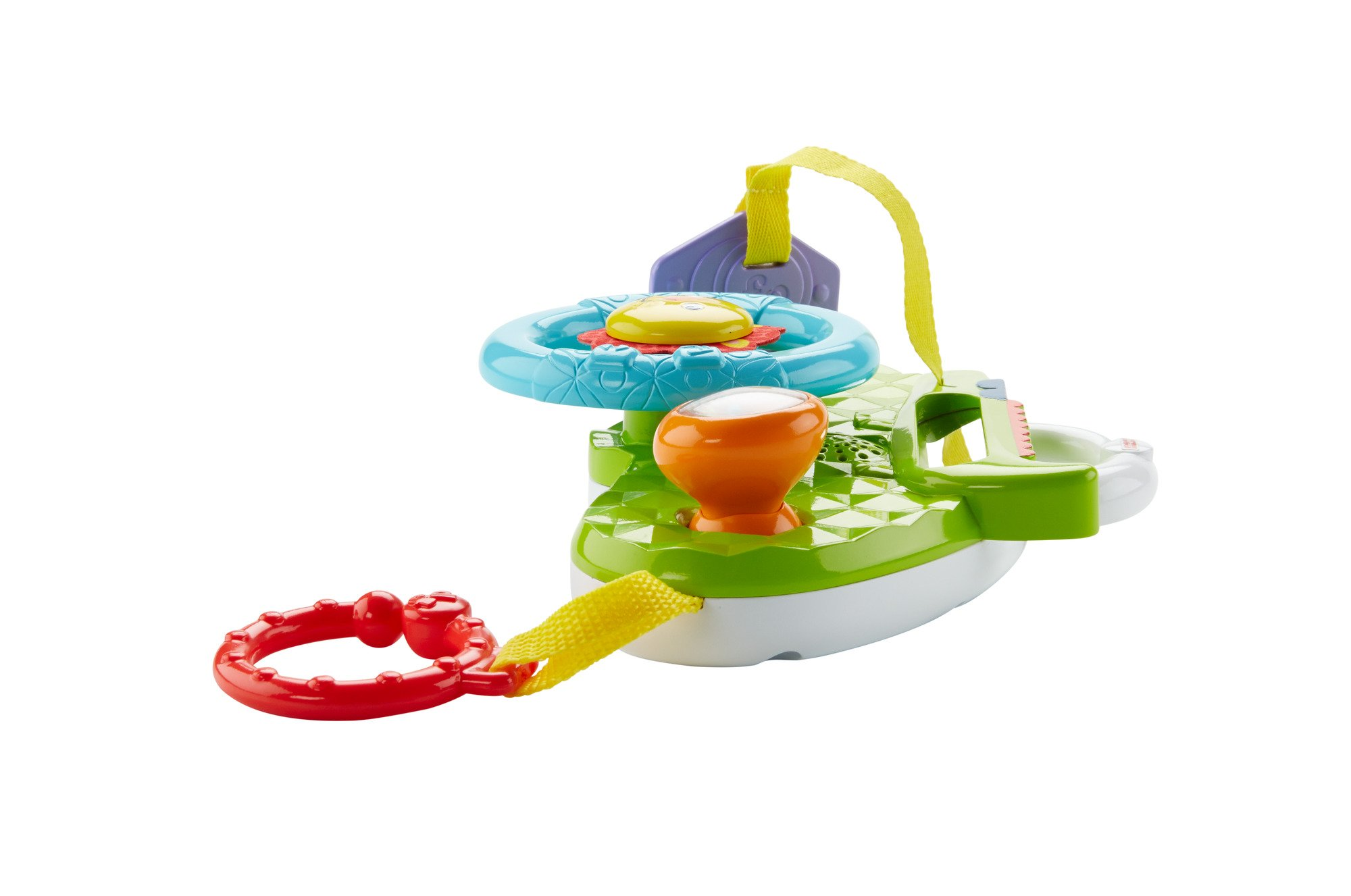 Fisher-Price Rolling and Strolling Dashboard, New-born Activity Toy with Music Sounds Fisher-Price  Attaches to stroller for playtime on the go  Turn the lion steering wheel to hear short songs  Push the lion's face for silly sound effects (Beep beep!) 3