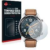 savvies Cristal Templado Compatible con Huawei Watch Classic/GT Classic Protector Pantalla Vidrio Proteccion 9H Pelicula Anti